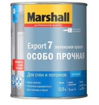 Краска Marshall Export-7 BW, белая, 0.9 л